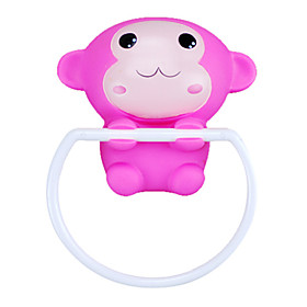 Pink Monkey Style Sucker Towel Ring
