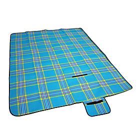Flannel Waterproof Plaid Mat For Outdoor Activities (Random Color)