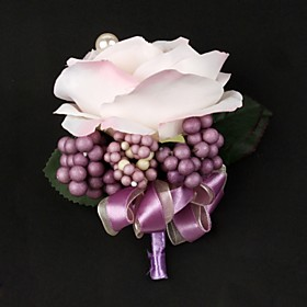Gorgeous Satin / Cotton Free-form Boutonniere