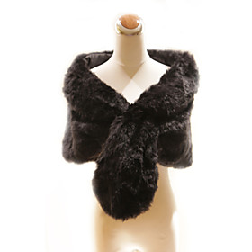 Elegant Faux Rabbit Fur Party / Evening Shawl / Wrap