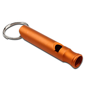 Concise Key Chain Whistle Large Size (Orange)