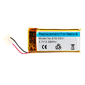 NEW Replacement Battery for iPod Nano 6th Gen (3.7V,0.39Whr)