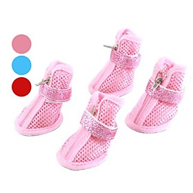 Glitter Mesh Style Velcro Shoes for Dogs (XS-XL, Assorted Colors)