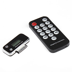 0.8 LCD FM Transmitter, Car Charger and Remote Control for iPhone,iPod - Black