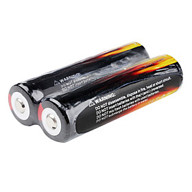 UniqueFire Protected 18650 3600mAh 3.7V Li-ion Rechargeable Battery (2 Pieces, Balck)