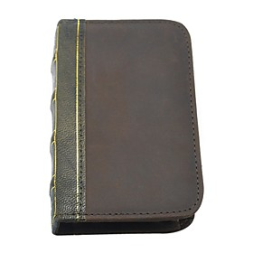 Book Style Genuine Leather Wallet for iPhone 4/4S