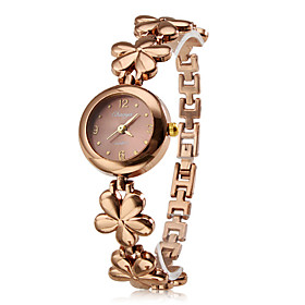 Women's Fashionable Style Alloy Analog Quartz Bracelet Watch (Bronze)