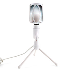High-Performance Desktop Microphone (3.5mm, White)