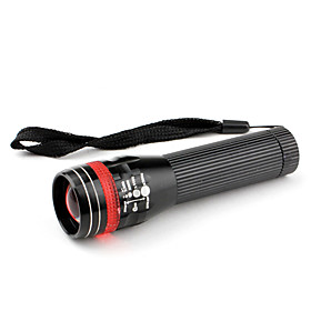 Red and Black 3W 3-Mode Zoom Fosus Adjustable Flashlight (1xAA)