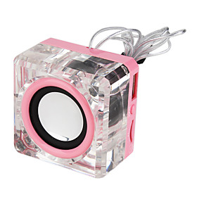Mini Crystal speaker mp3 player support TF/USB Slot   FM Radio