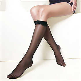 Refined Transparent Antiskid Socks