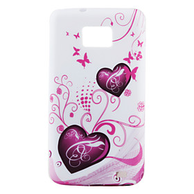 Colorful Lovely Heart Pattern TPU Case for Samsung Galaxy S2 I9100 (Multi-Color)