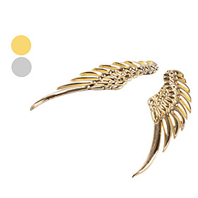 3D Metal Angel Wing decoration Badge Emblem Chrome Car Auto sticker decal (Silver,Golden)