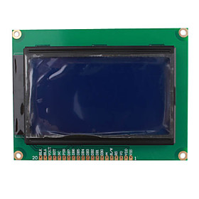 12864 128 x 64 Dots Graphic Blue Color Backlight LCD Display Module