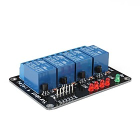 Four 4-Channel 5V Relay Module Expansion Board For Arduino