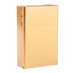 Aluminium Gold Cigarette Case (Holds 20 Cigarettes)