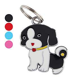 Red Nose Dog ID Tag Key Chain (Assorted Colors)
