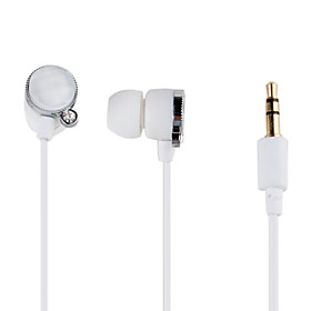 Jewel Type Circular In-Ear Earphones (White)