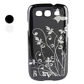 Butterfly Flowers Pattern Hard Case for Samsung Galaxy S3 I9300 (Assorted Colors)
