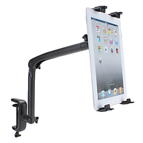 Universal Adjustable Stand Holder for The New iPad and Sumsang Galaxy-Tab (Black)