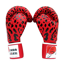 Leopard Leather Full Finger Professional Boxing Gloves