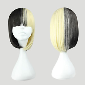White and Black Mixed Color 45cm Punk Lolita Wig