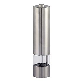 Kitchen Electronic Stainless Steel Salt Pepper Mill Grinder (4xAA)