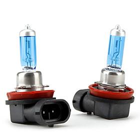 H11 Super White Car Light Bulbs 100 (2-Pack/DC 12V)