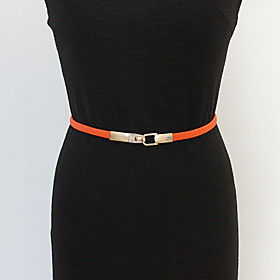 Simple Buckle Elasticity Fine Belt