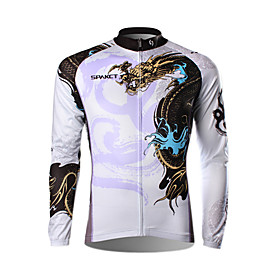 SPAKCT- Professional 100% Polyester Men's Low-Resistance Bicycle Jersey (White)