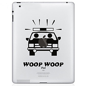 Car Pattern Protective Sticker for The New iPad and iPad 2
