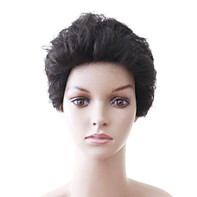 Capless Short High Quality Mixed Hair Chestnut Brown Women's Hair Wig