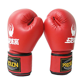 Leather Full Finger Soft And Porous Boxing Gloves