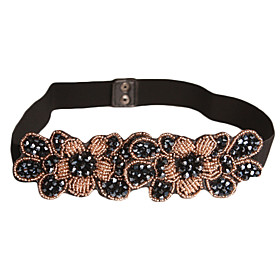 Gorgeous Spandex/Cotton With Crystals Women's Belt (More Colors)