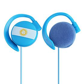Argentina Flag Sporty Stereo On-Ear Headphone (Blue)
