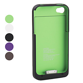External Battery Case for iPhone 4 and 4S (1900mAh, Assorted Colors)