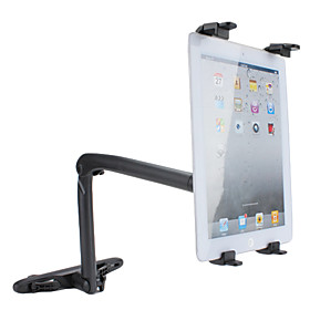 Car Pillow Clip Multi-Direction Holder Stand for iPad and Sumsang Galaxy-Tab (Black)