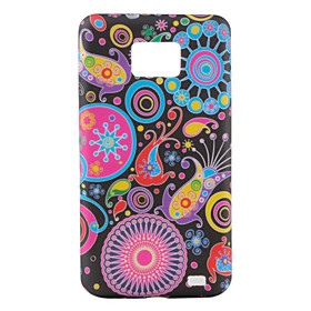 Colorful Flower Ribbon Pattern TPU Case for Samsung Galaxy S2 I9100 (Multi-Color)