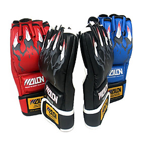 Leather Short Finger Boxing Gloves