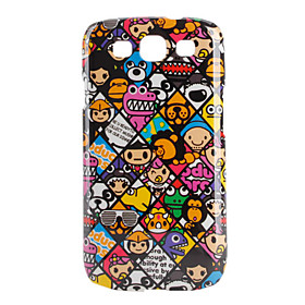 Colorful Cartoon Animal Pattern Hard Case for Samsung Galaxy S3 I9300 (Multi-Color)