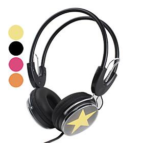 Super Bass Flexible Ear Cushions Star Headphone (Assorted Colors)