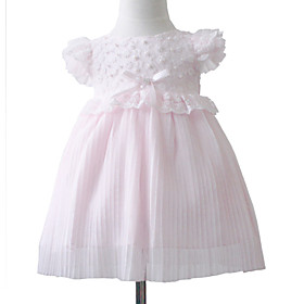 Lovely Ball Gown Bateau Lace Satin Flower Girl Dress