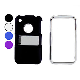 Rubberized Hard Case with Chrome Stand for iPhone 3G and 3GS (Assorted Colors)