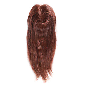 5 Inch By 6 Inch Mono Top 100% Indian Remy Hair 16 Inch Silky Straight Women's Hairpiece