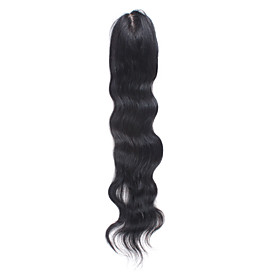 4 Inch By 5 Inch Mono Top 100% Indian Remy Hair 18 Inch Body Wave Women's Hairpiece