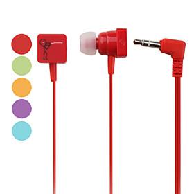 Line Teaser Pattern In-Ear Earphones (Assorted Colors)