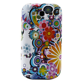 Colorful Pattern TPU Case for Samsung Galaxy S3 I9300 (Multi-Color)