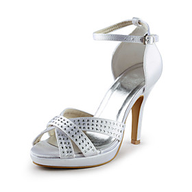 Satin Stiletto Heel Sandals With Buckle Party / Evening Shoes (More Colors)