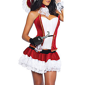 Adult Women's Sexy Pirate Red Halloween  Costume