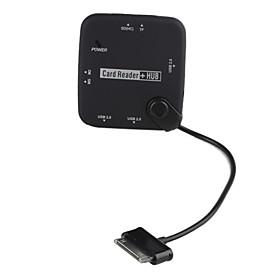 3-Port USB2.0 Hub with MS SD TF M2 Card Reader for Samsung Galaxy Tab